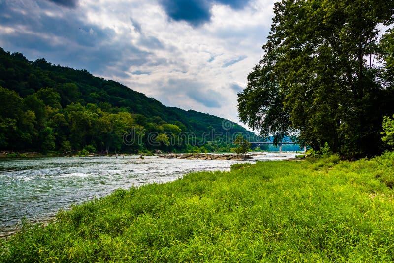 Река Shenandoah, в пароме арфистов, Западная Вирджиния стоковое изображение rf