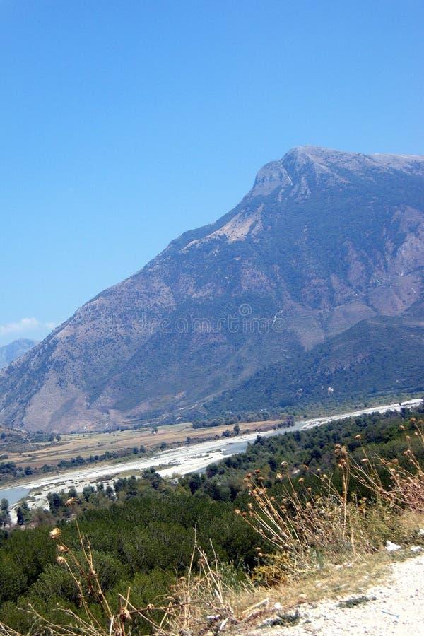 Река Shkumbim Elbasan - Албания стоковое изображение rf