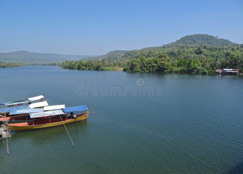 Река Tatai, Koh Kong, Камбоджа стоковое фото rf
