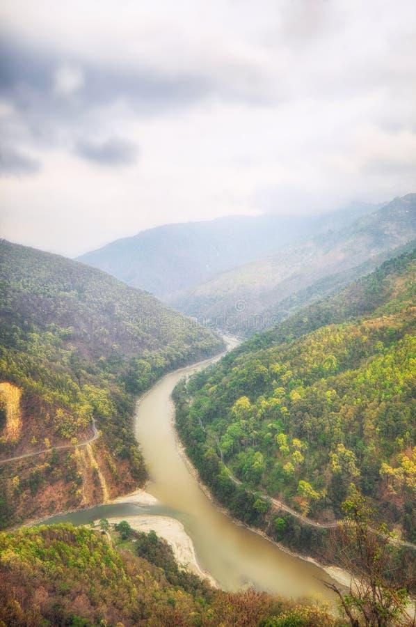 Река Teesta стоковые фото