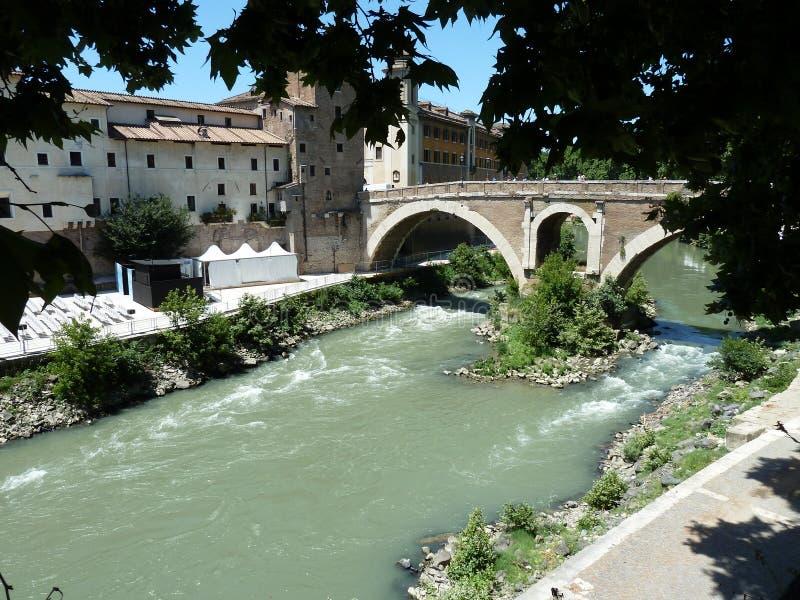 Река Tiber. стоковые фотографии rf