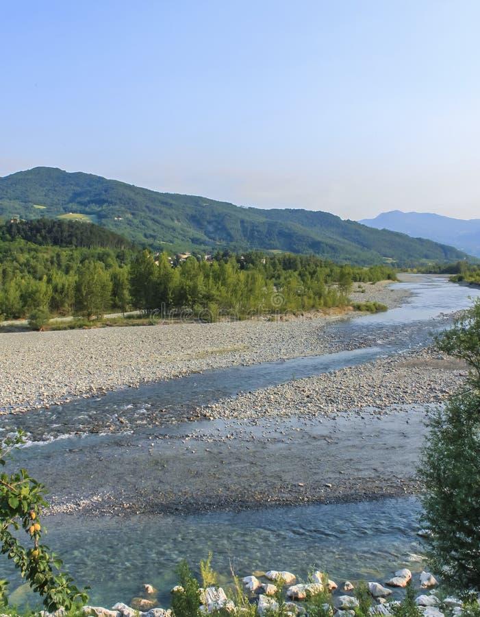 Река Trebbia стоковое фото
