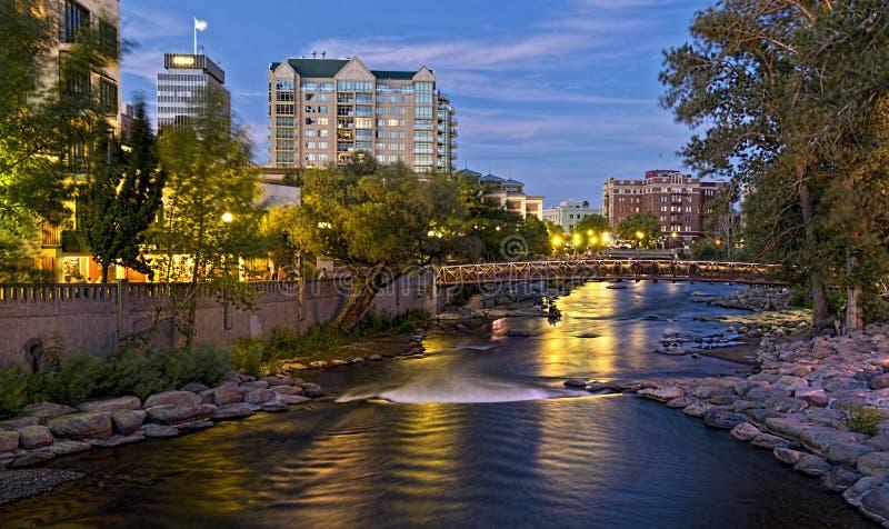 Река Truckee в Reno стоковое изображение rf