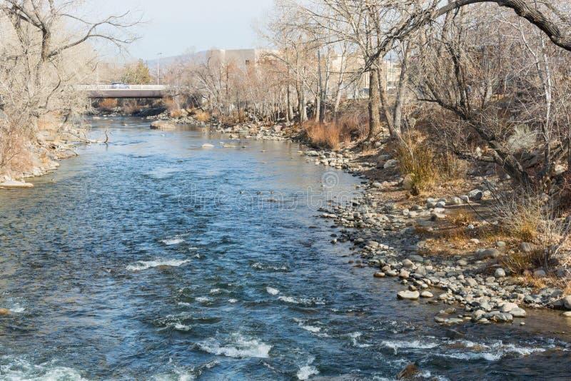 Река Truckee стоковое фото