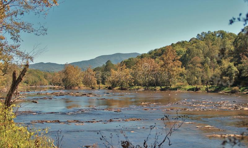 Река Tuckasegee стоковые изображения