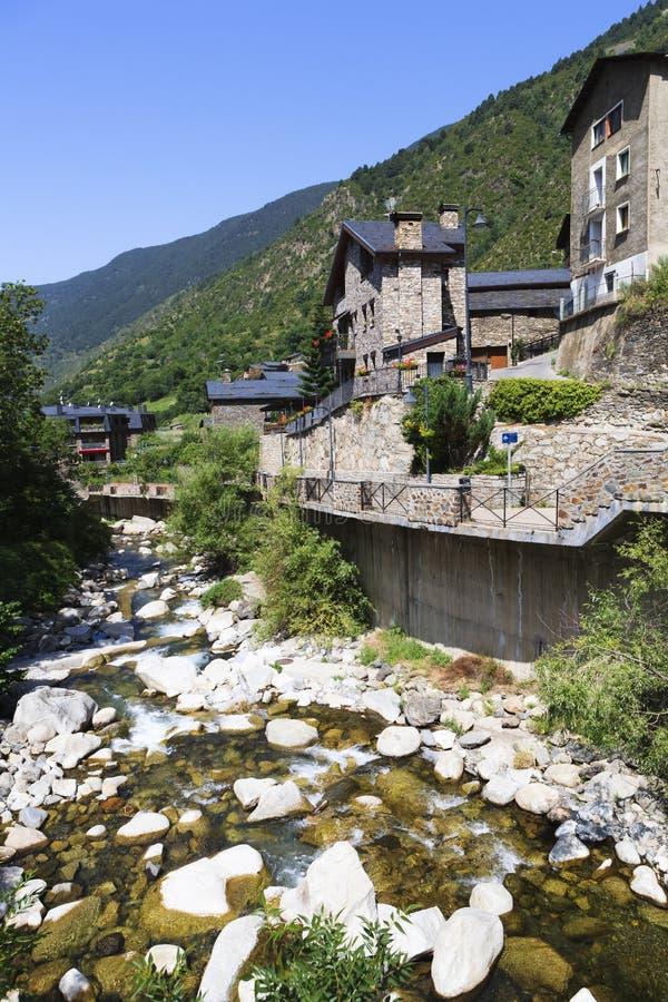 Река Valira d'Orient стоковые фотографии rf