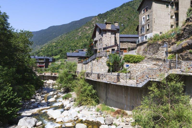 Река Valira d'Orient стоковое изображение rf