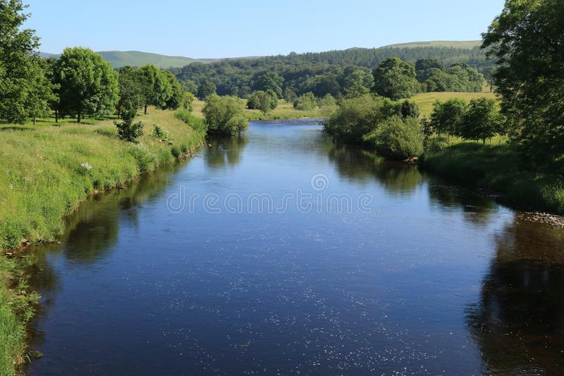 Река Wharfe от моста Bolton стоковое изображение rf