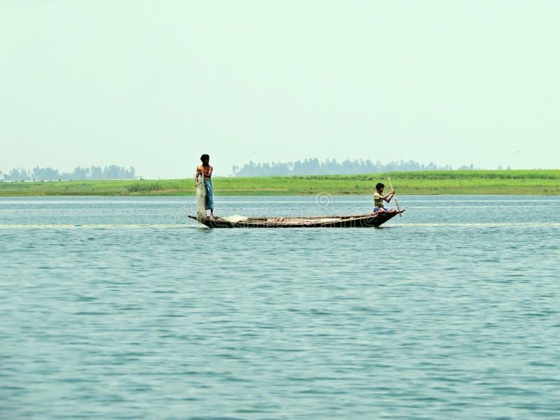 Река Yamuna, Река Brahmaputra, Bogra, Бангладеш стоковые изображения rf