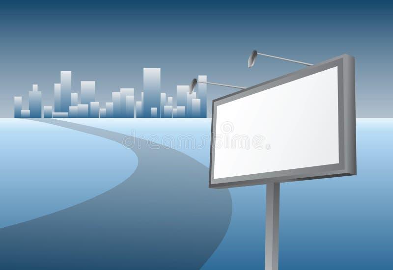 Download рекламировать афишу иллюстрация вектора. иллюстрации насчитывающей горизонт - 6854503