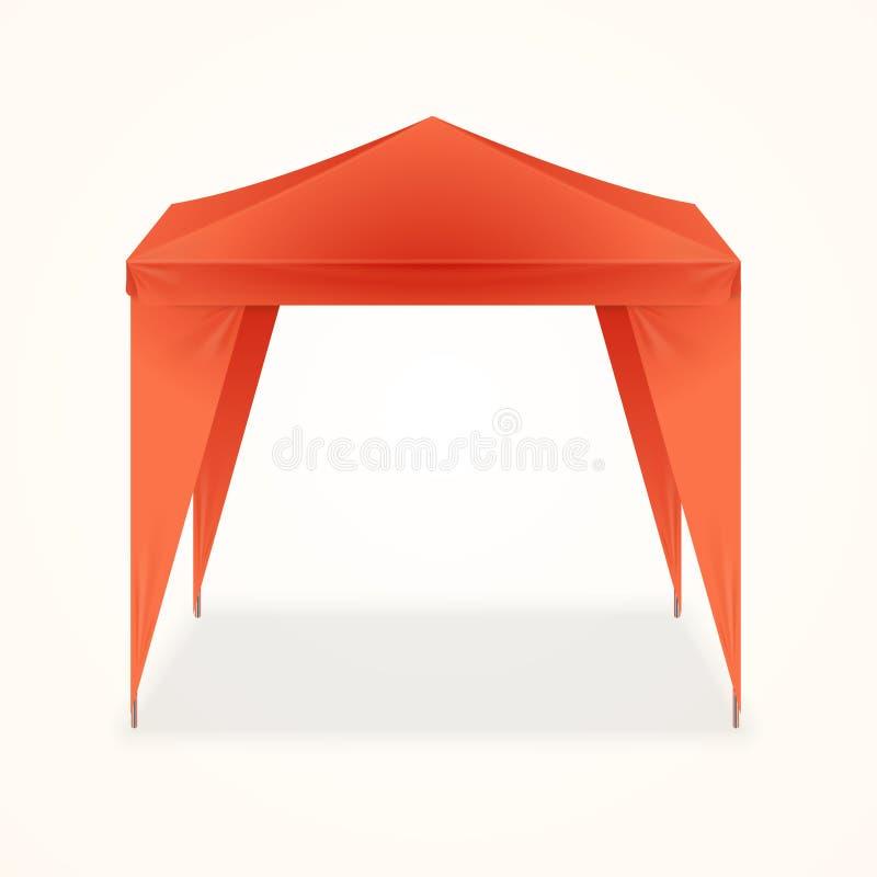 Рекламировать внешнее событие складывая выдвиженческий шатер вектор иллюстрация вектора