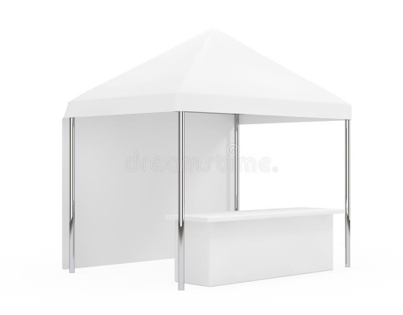 Рекламировать выдвиженческий внешний передвижной шатер сени перевод 3d иллюстрация вектора