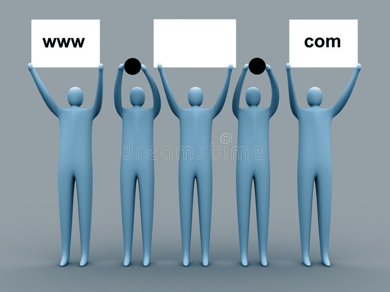 рекламировать домен иллюстрация штока