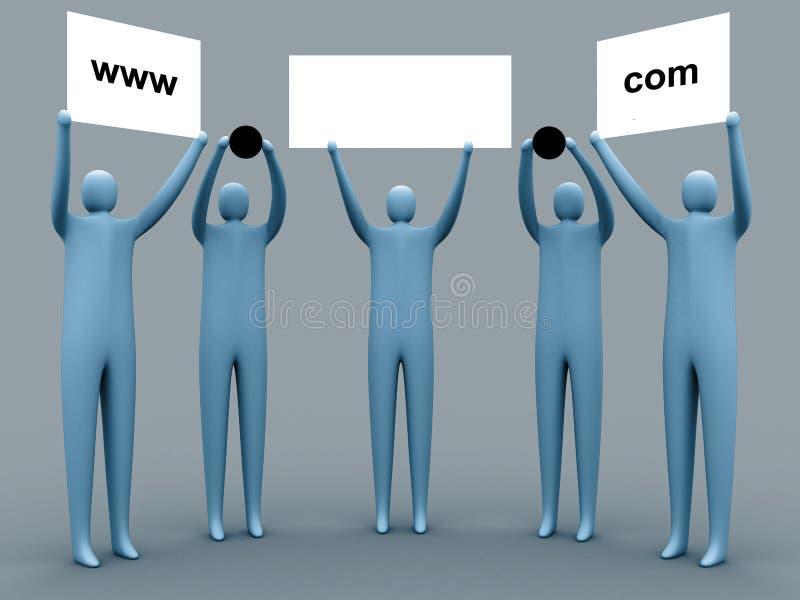 рекламировать домен иллюстрация вектора