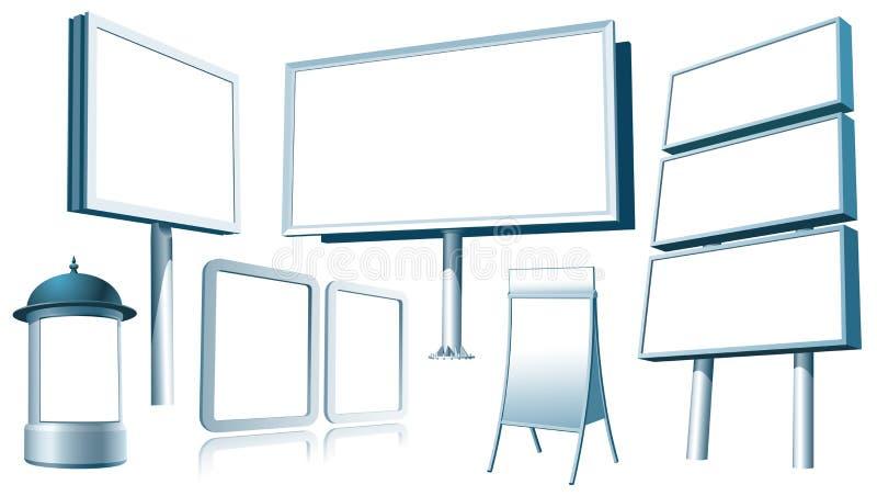 рекламировать напольный иллюстрация вектора