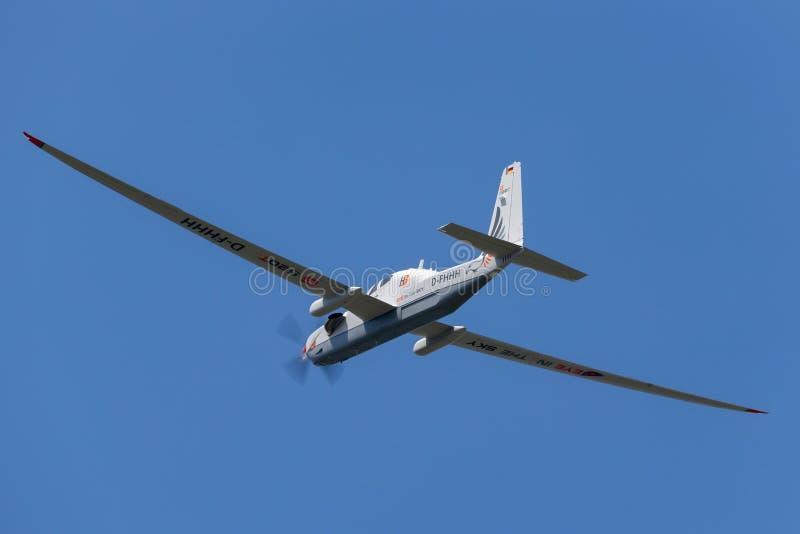 Рекогносцировка большой возвышенности Grob G-520T Egrett и самолеты наблюдения D-FHHH стоковое фото rf