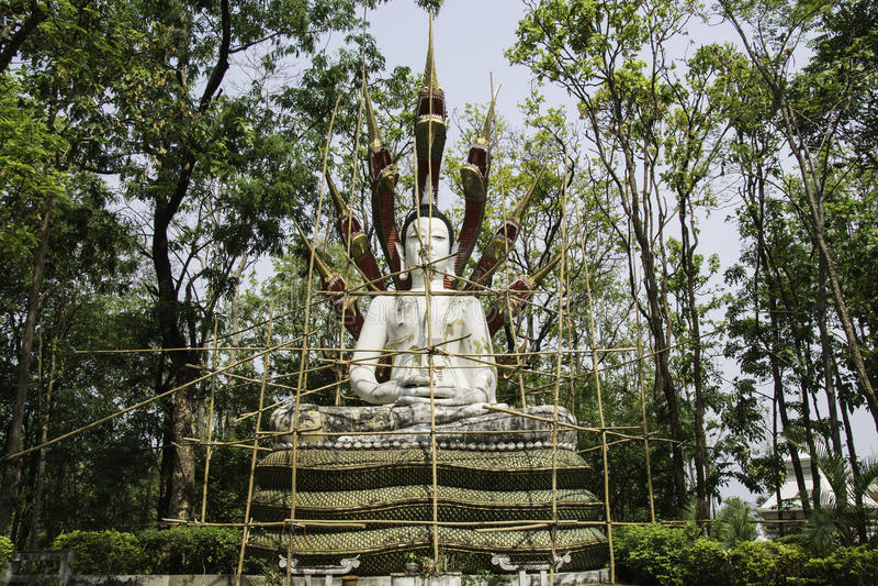 Реконструируйте статую Будды стоковые фотографии rf