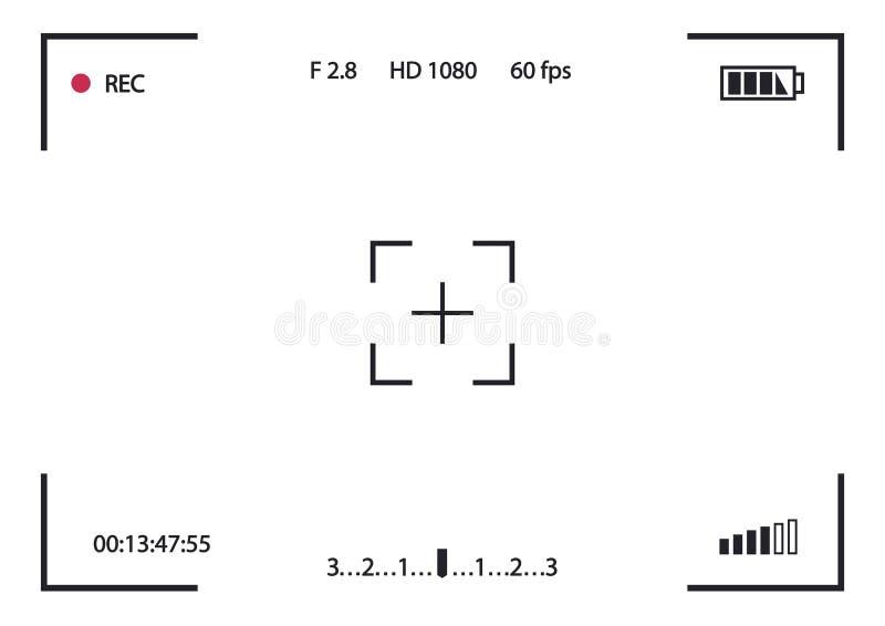 Рекордная камера рамки иллюстрация вектора