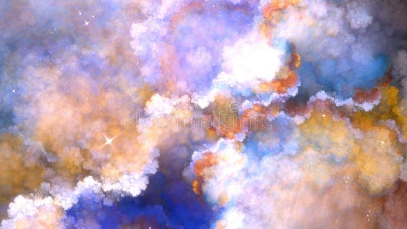 Рекурсивное облако фрактали стоковые изображения