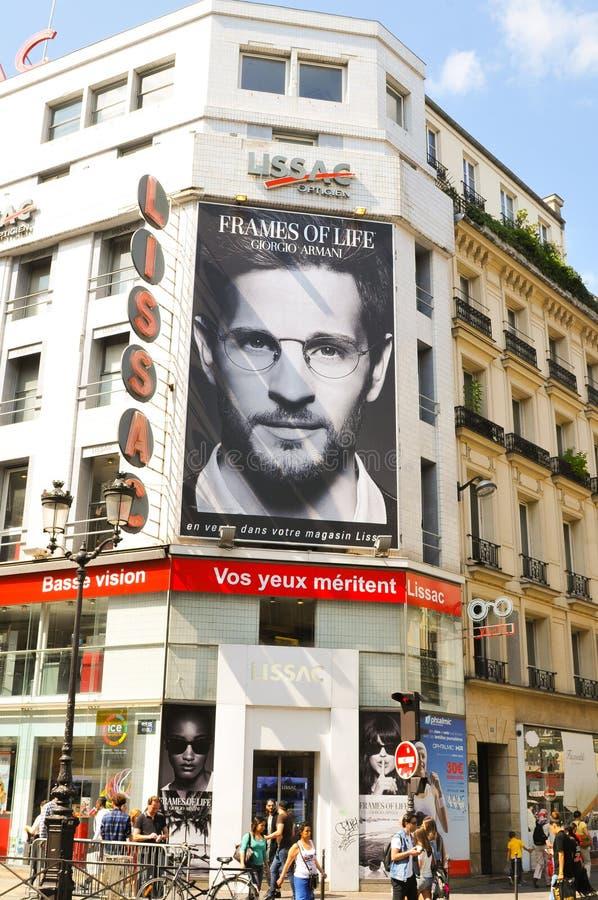 Реклама в Париже стоковое фото rf