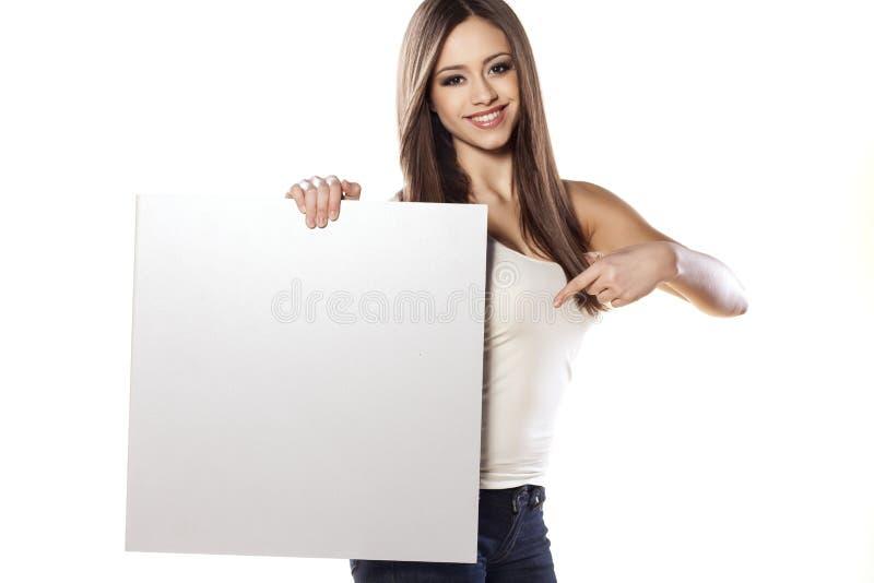 рекламировать девушку стоковое фото rf