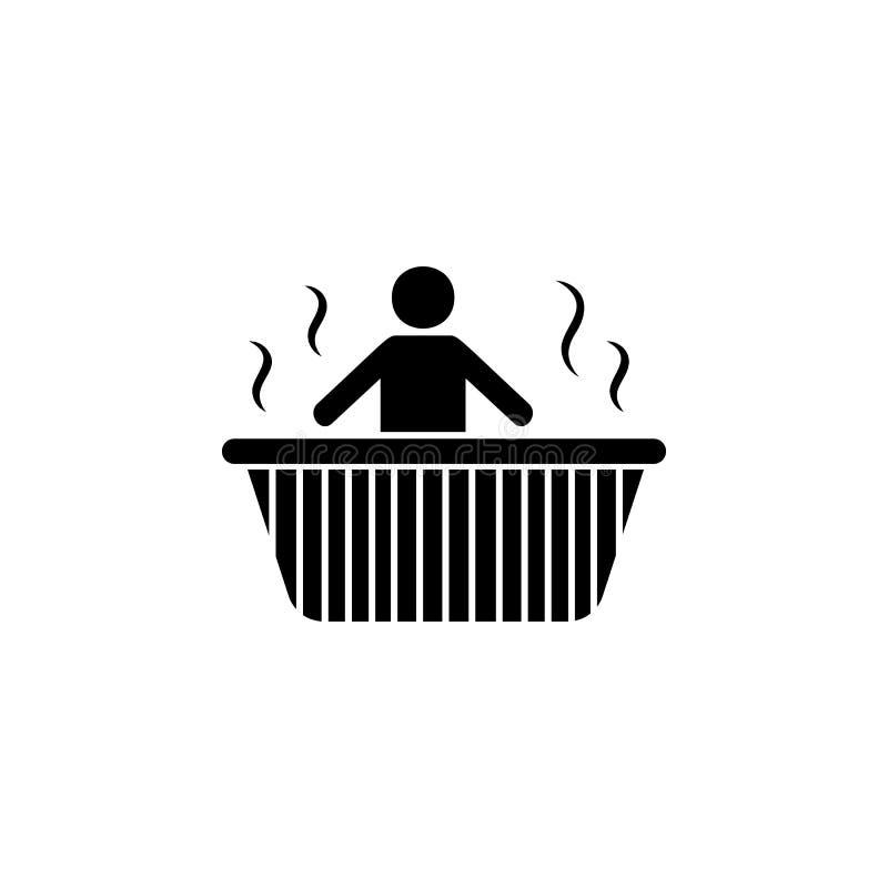 релаксация в значке ванны Элемент значка КУРОРТА Наградной качественный графический дизайн Знаки и значок собрания символов для в иллюстрация штока