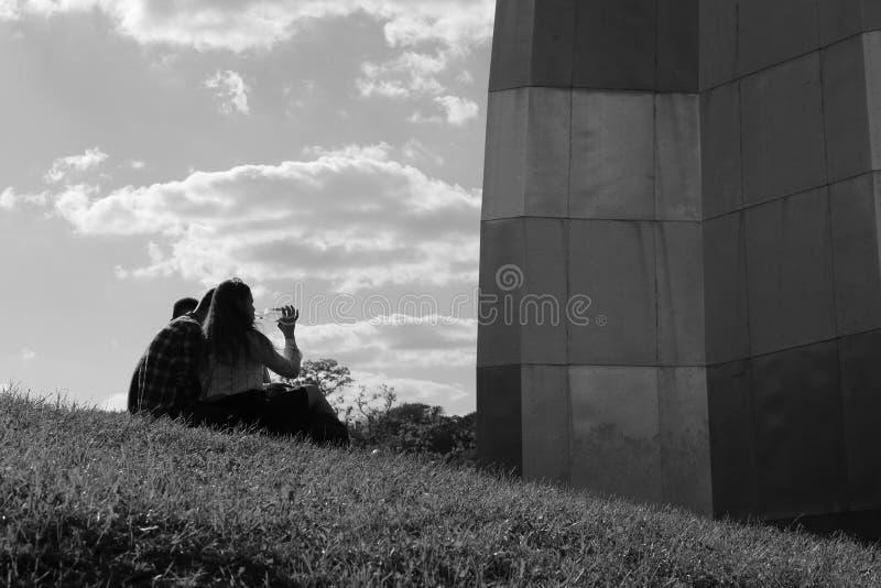 Релаксация в парке стоковое изображение