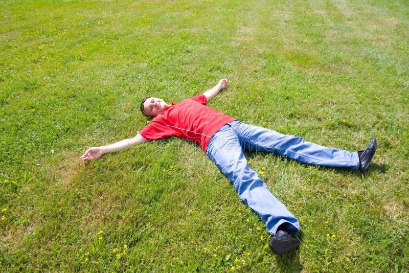 релаксация человека стоковая фотография rf