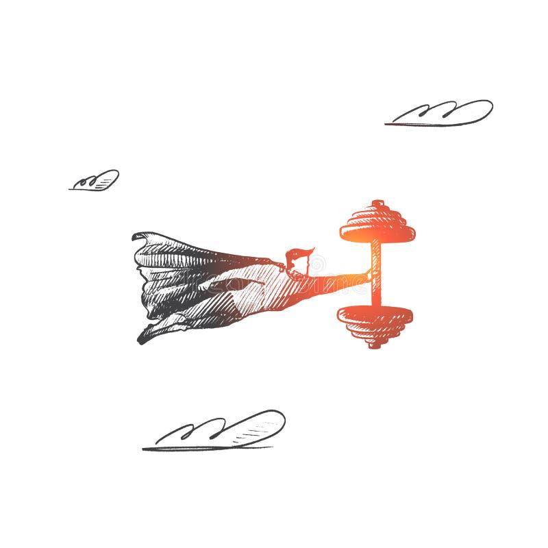 релаксация pilates пригодности принципиальной схемы шарика Вектор нарисованный рукой изолированный иллюстрация вектора