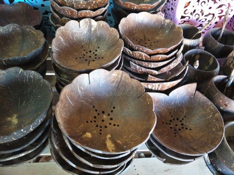 Ремесленничество от кокоса стоковые изображения rf