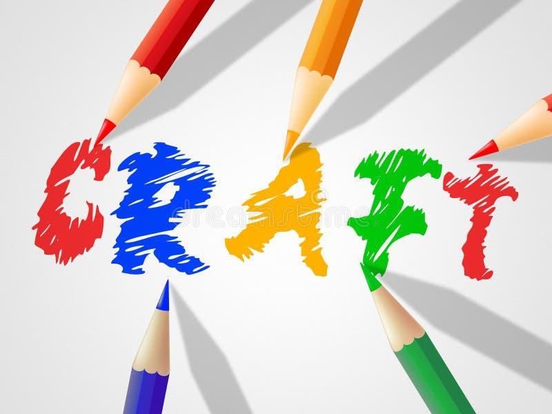 Ремесло детей значит чертеж и скульптор малолетки иллюстрация штока