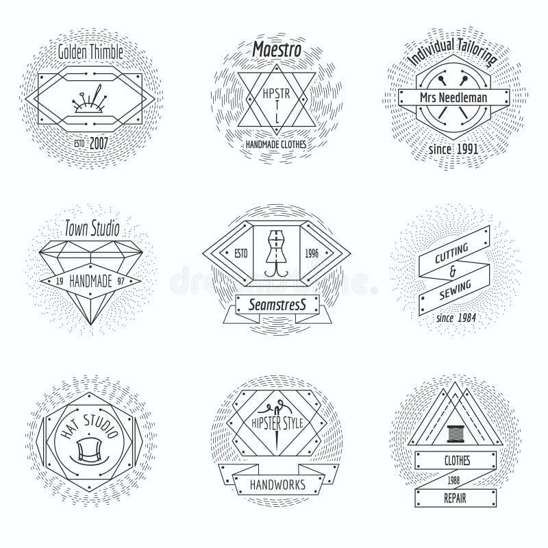 Ремесло одевает студию, шить логотип мастерской бесплатная иллюстрация