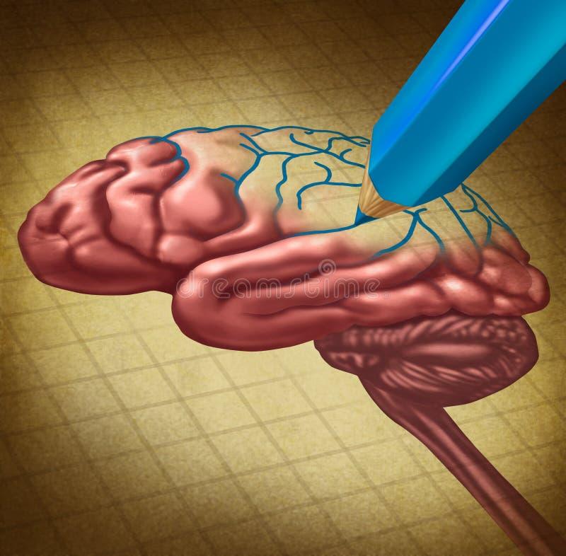 Ремонтировать мозг иллюстрация вектора