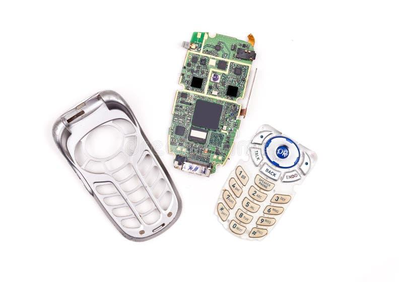 ремонтировать сотового телефона стоковое изображение rf