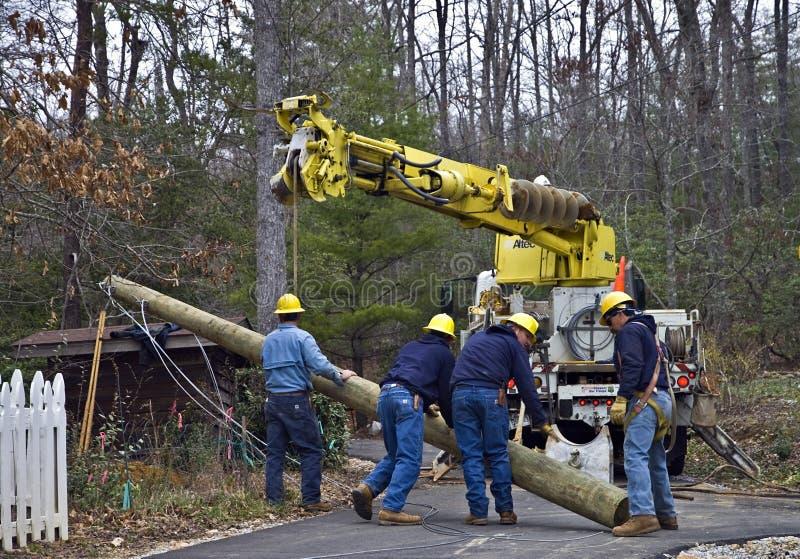 ремонты линии электропередач стоковая фотография rf