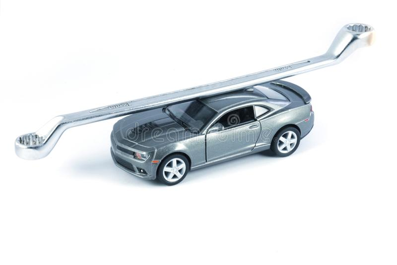 Ремонт автомобиля, обслуживание автомобиля, обслуживать автомобиля стоковые изображения