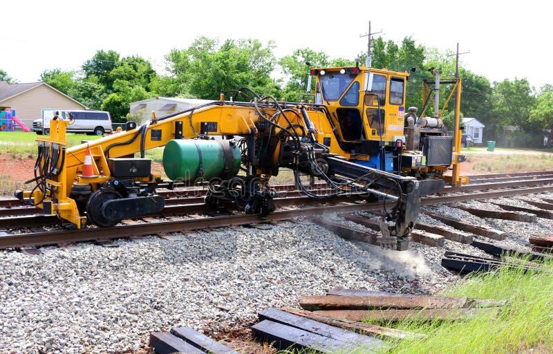 Ремонт железнодорожного пути стоковая фотография