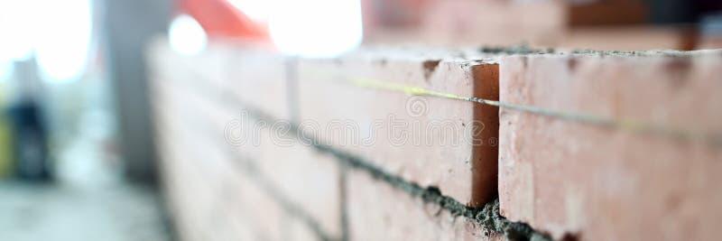 Ремонт квартиры стены Bricklaying стоковое фото