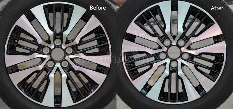 Ремонт колеса сплава стоковое фото