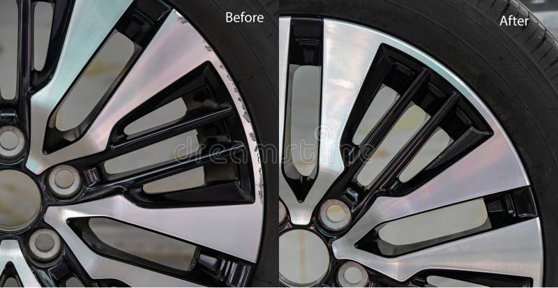 Ремонт колеса сплава стоковая фотография