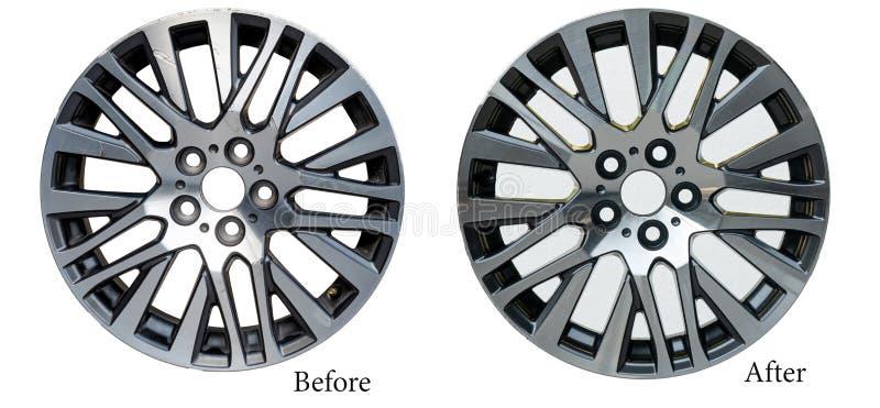 Ремонт колеса сплава стоковые изображения rf