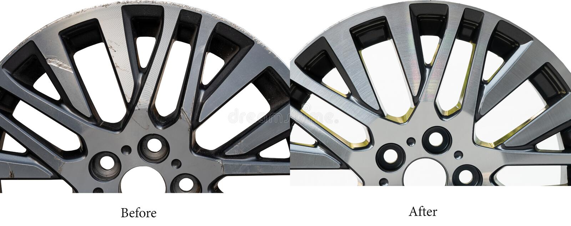 Ремонт колеса сплава стоковые фото