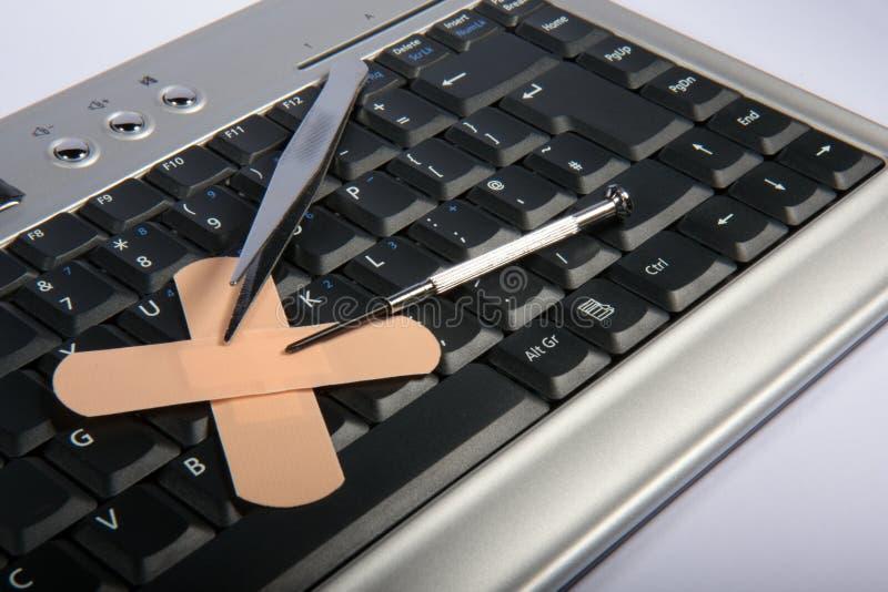 ремонт компьютера стоковое изображение