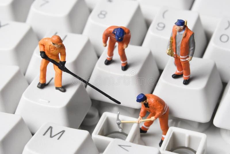 ремонт компьютера стоковые фото