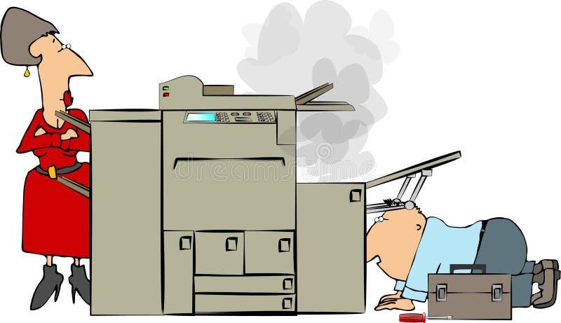 ремонт копировальной машины иллюстрация штока