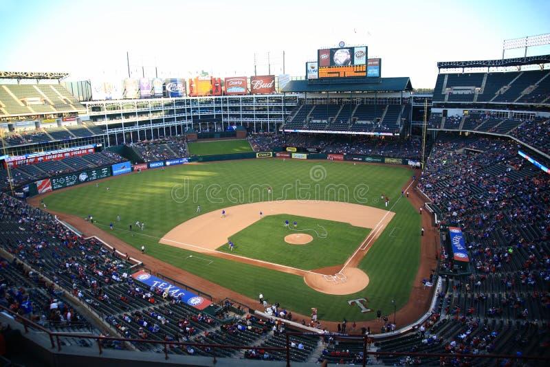 ренджеры texas бейсбольного стадиона arlington стоковые изображения rf