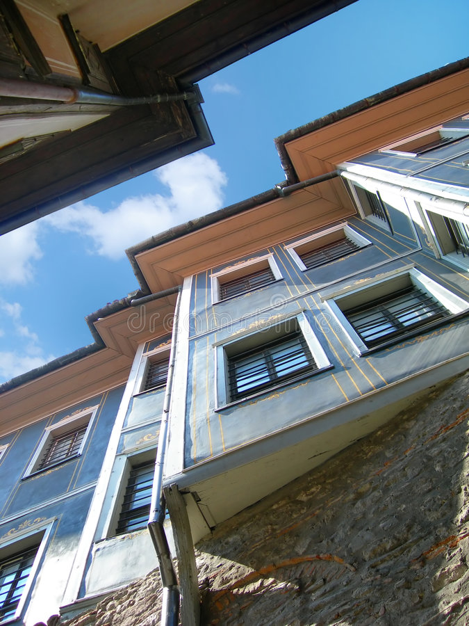 ренессанс plovdiv дома Болгарии Восточной Европы старый стоковое фото rf