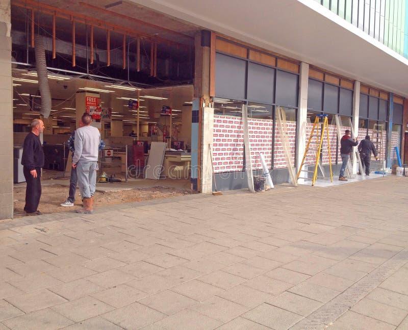 Реновация магазина стоковые изображения rf