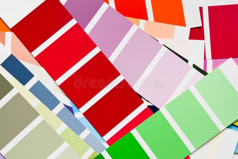 реновация цвета диаграмм стоковое фото