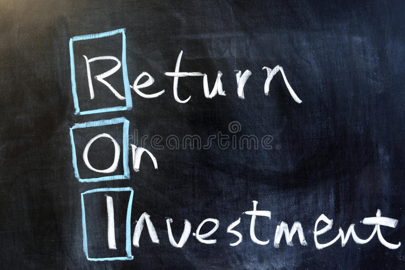 Рентабельность инвестиций стоковое фото